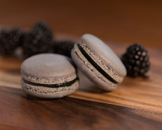 Blackberry French Macaron batter made with the Angel Bake French Macaron Mix.